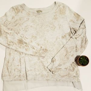 Lucky Brand long sleeve sweater blouse